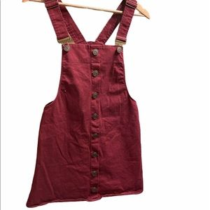 Harper Heritage Red Overall Dress Pinafore